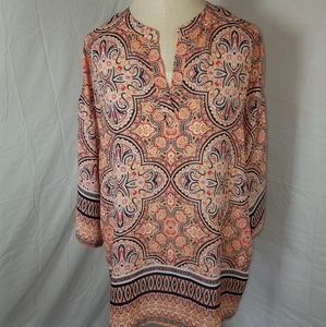 Violet and Claire Sheer Paisley Tunic Size Medium